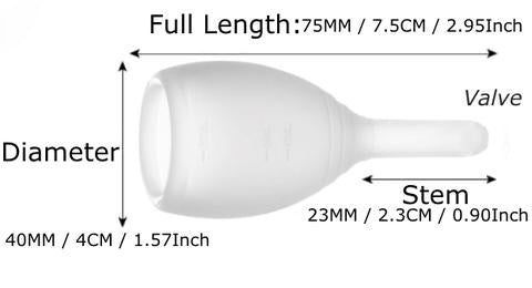 small valve menstrual cup