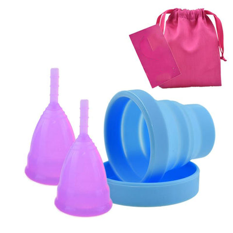 Menstrual Cup, 2-pack + Sterilizer Kit