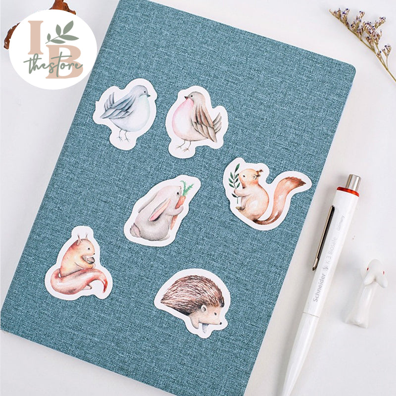 Cute Boxed Forest Animals Sticker Set