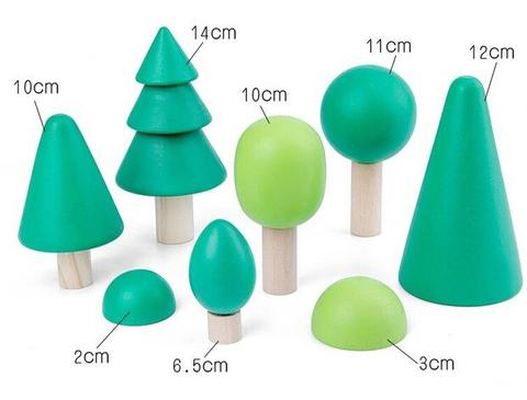 Emerald Forest Wooden Tree Set - 8 Piece