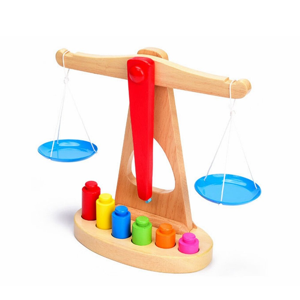 Small Wooden Balance Scale
