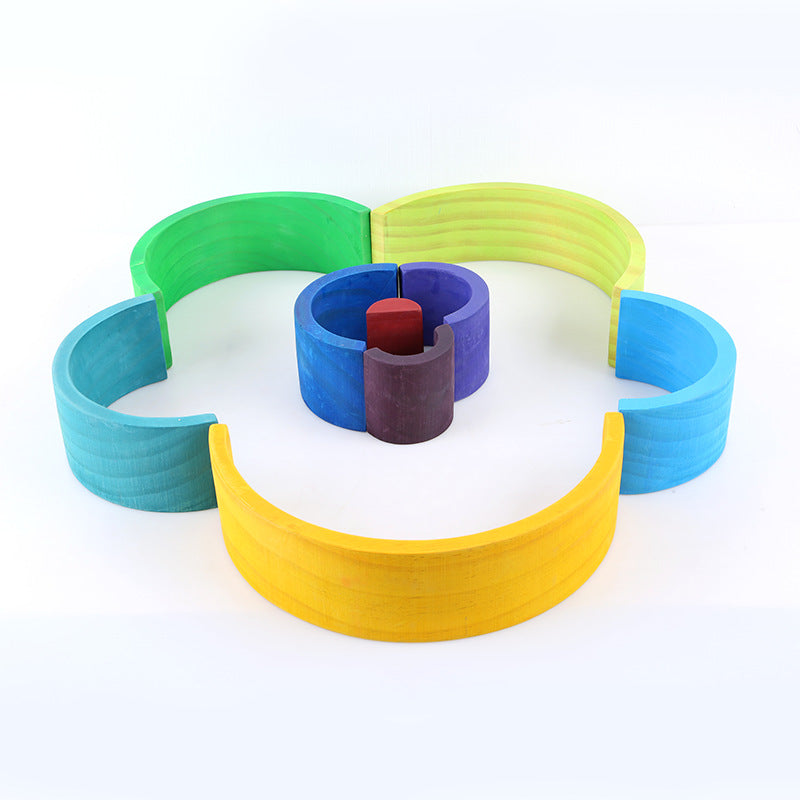 Wooden Rainbow Stacker- 12 Piece Set