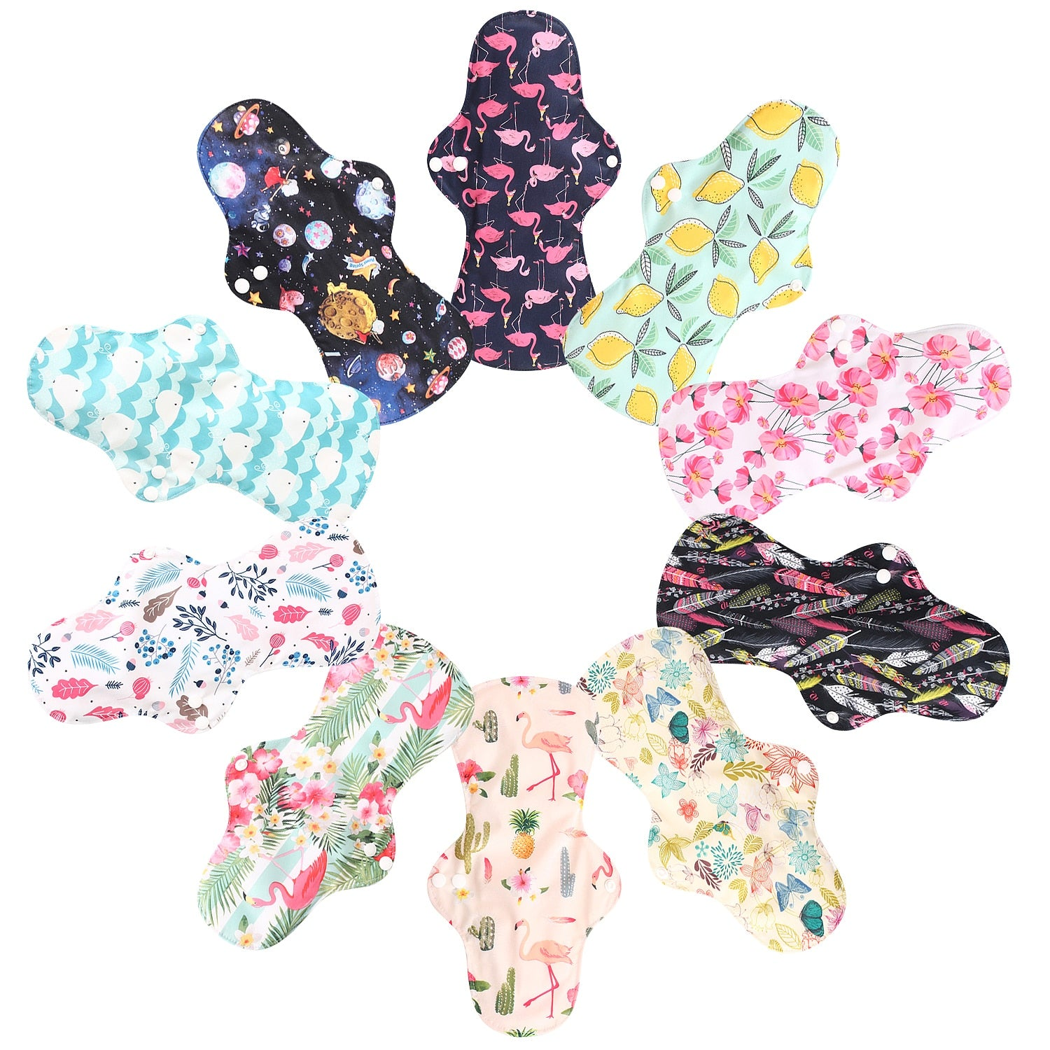 Large Night Use Reusable Heavy Flow Bamboo Sanitary Pads