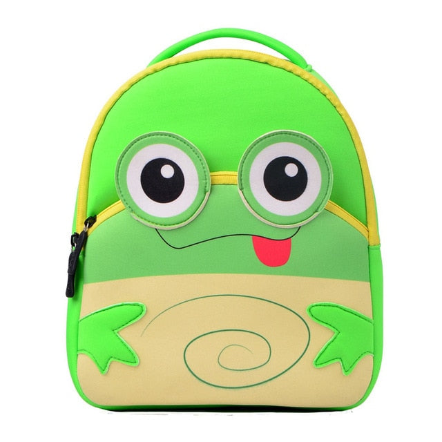 3D Frog Toddler Backpack