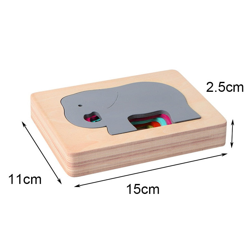 Multi-layer Wooden Puzzle