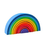 Wooden Reverse Rainbow Blocks -10 Piece Set