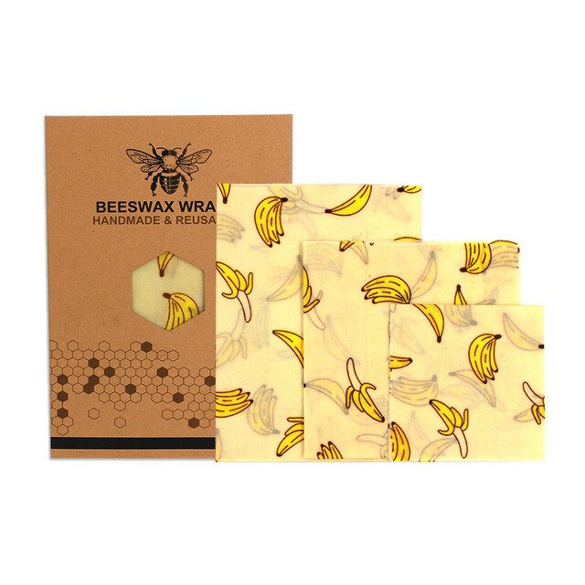 Reusable Beeswax Wraps, 3-Pack