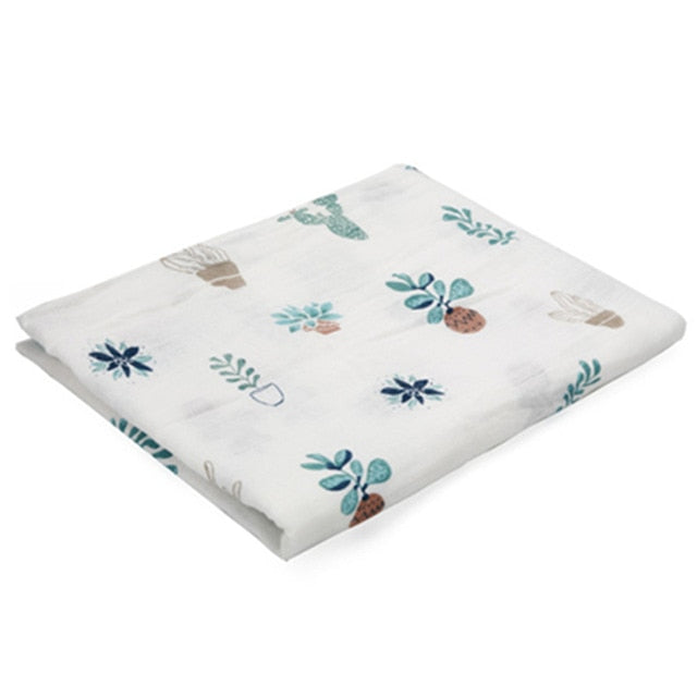 Organic Cotton Muslin Swaddle Blanket