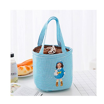 Dolly Drawstring Lunch Tote Cooler Bag