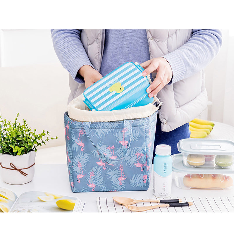 Drawstring  Lunch Tote Cooler Bag