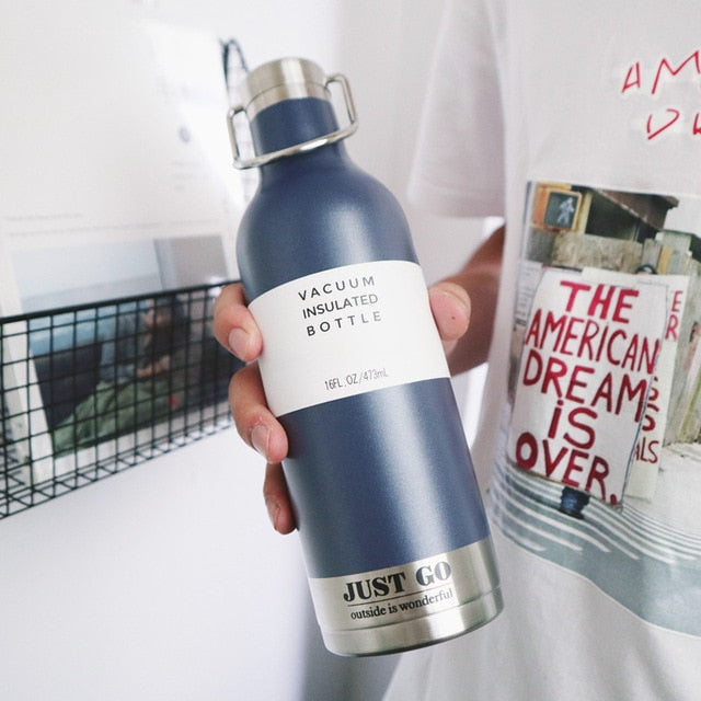 JUST GO Vacuum Insulated Water Bottle