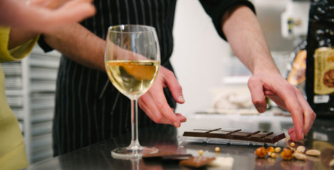 Join us for a great experience with wine and chocolate