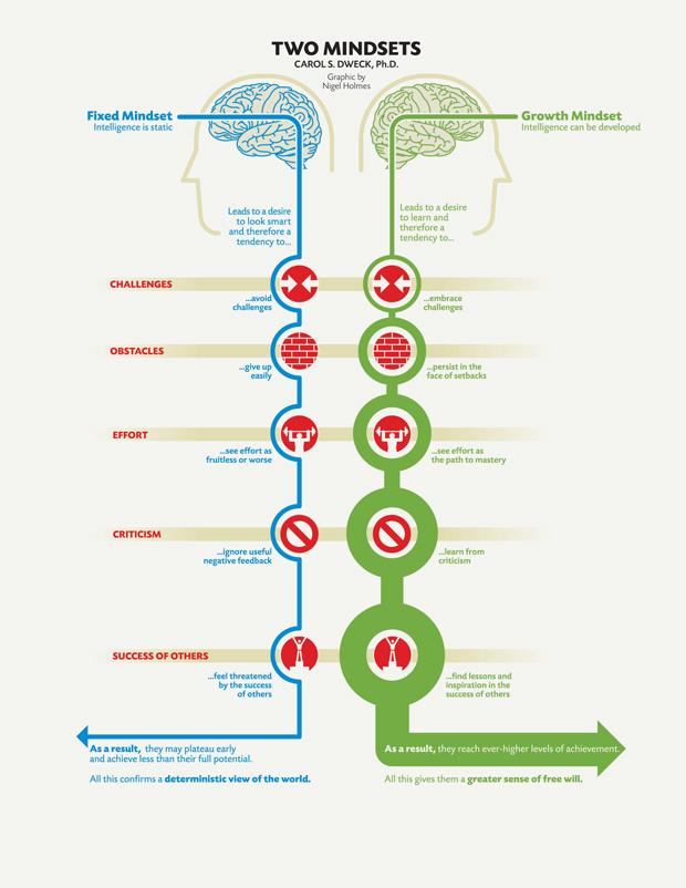 Two Mindsets, by Carol S. Dweck.
