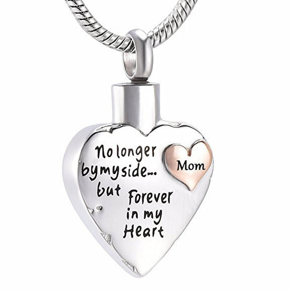 No Longer By My Side Heart In Heart - Mom - Urn Necklace