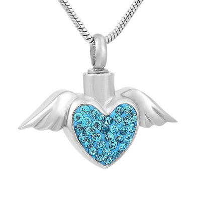 Angel Wings Holding Heart