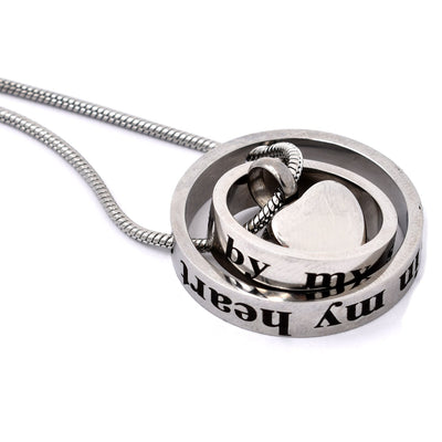 No Longer By My Side Forever In My Heart - Urn Necklace