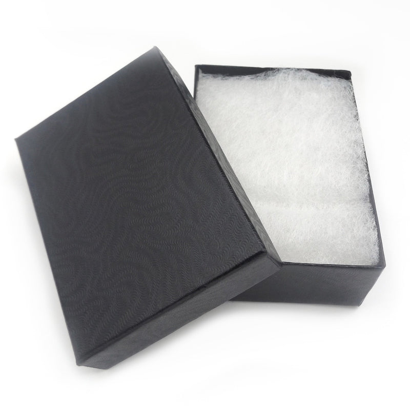 Black Cotton Filled Pendant Box