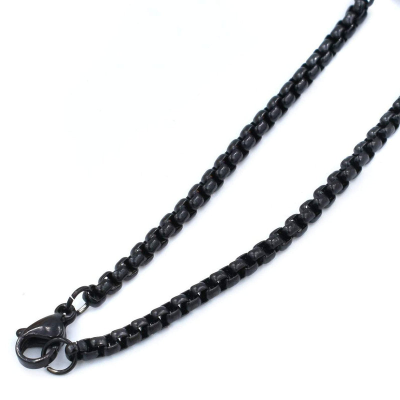3MM Rounded Box Chain Necklace