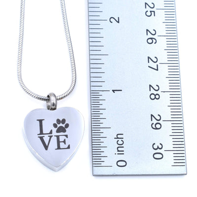 Pet Urn Necklace | Pet Memorial Cremation Necklace | Dog Cremation Pendant | Cat Memorial Gift | Heart Ashes Pendant for Pets
