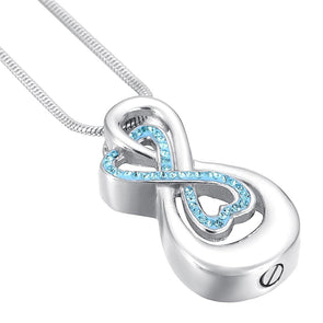 Love You To Infinity - Blue - Urn Necklace