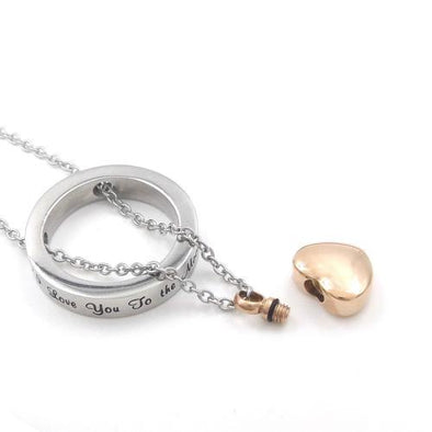 Love You To The Moon Sun Back - Urn Necklace