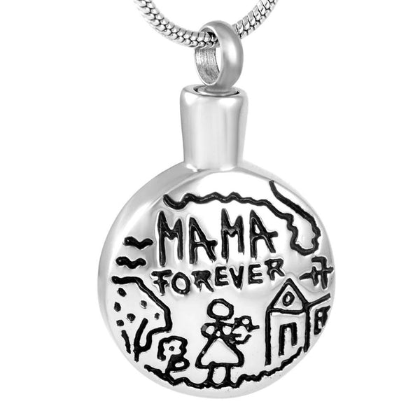 Mama Forever Childs Drawing - Urn Necklace
