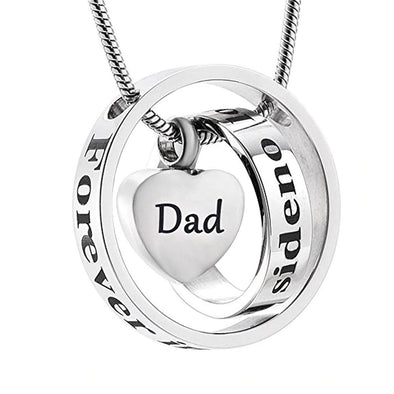 No Longer By My Side Mom Or Dad - Dad - Urn Necklace