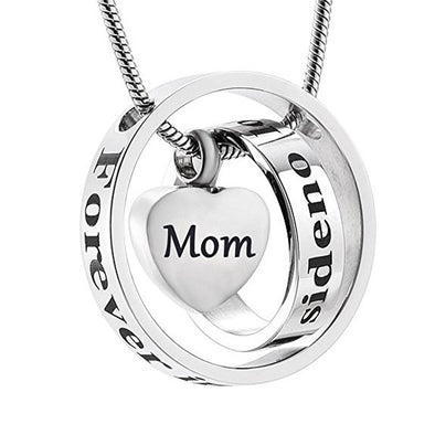 No Longer By My Side Mom Or Dad - Mom - Urn Necklace