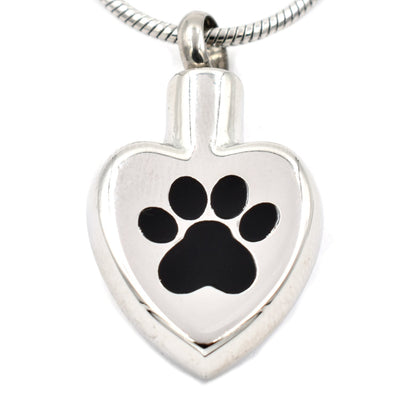 Paw Print On My Heart - Urn Necklace