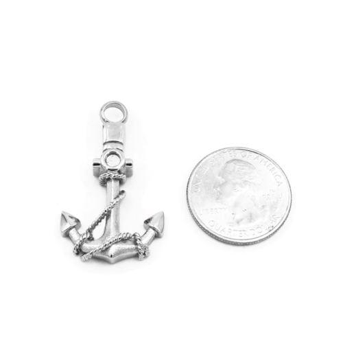 Silver Anchor - Urn Necklace
