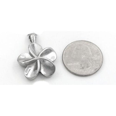 Silver Flower - Urn Necklace