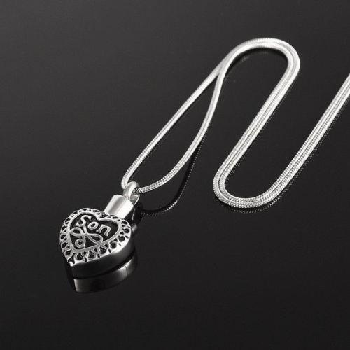 Son Heart With Scrollwork - Urn Necklace
