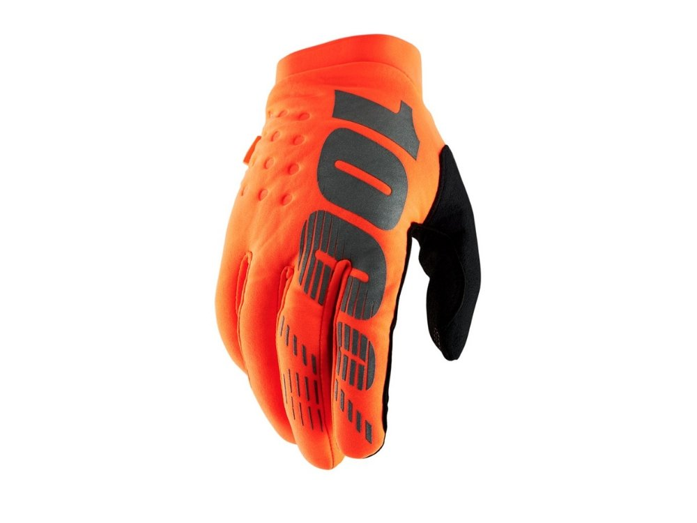 100% Brisker Cold Weather Glove - The Lost Co. - 100% - 10016-260-13 - 841269131247 - Fluo Orange - X-Large