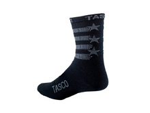 Load image into Gallery viewer, Tasco Double Digits Socks - The Lost Co. - Tasco MTB - DDSBFLAG13 - S/M - Black Flag