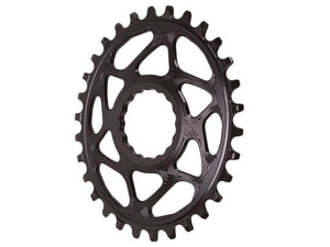 Absolute Black Spiderless Cinch DM Oval Boost Chainring - 30t - The Lost Co. - Absolute Black - RFOVBOOST30BK - 5110846002078 - Default Title -