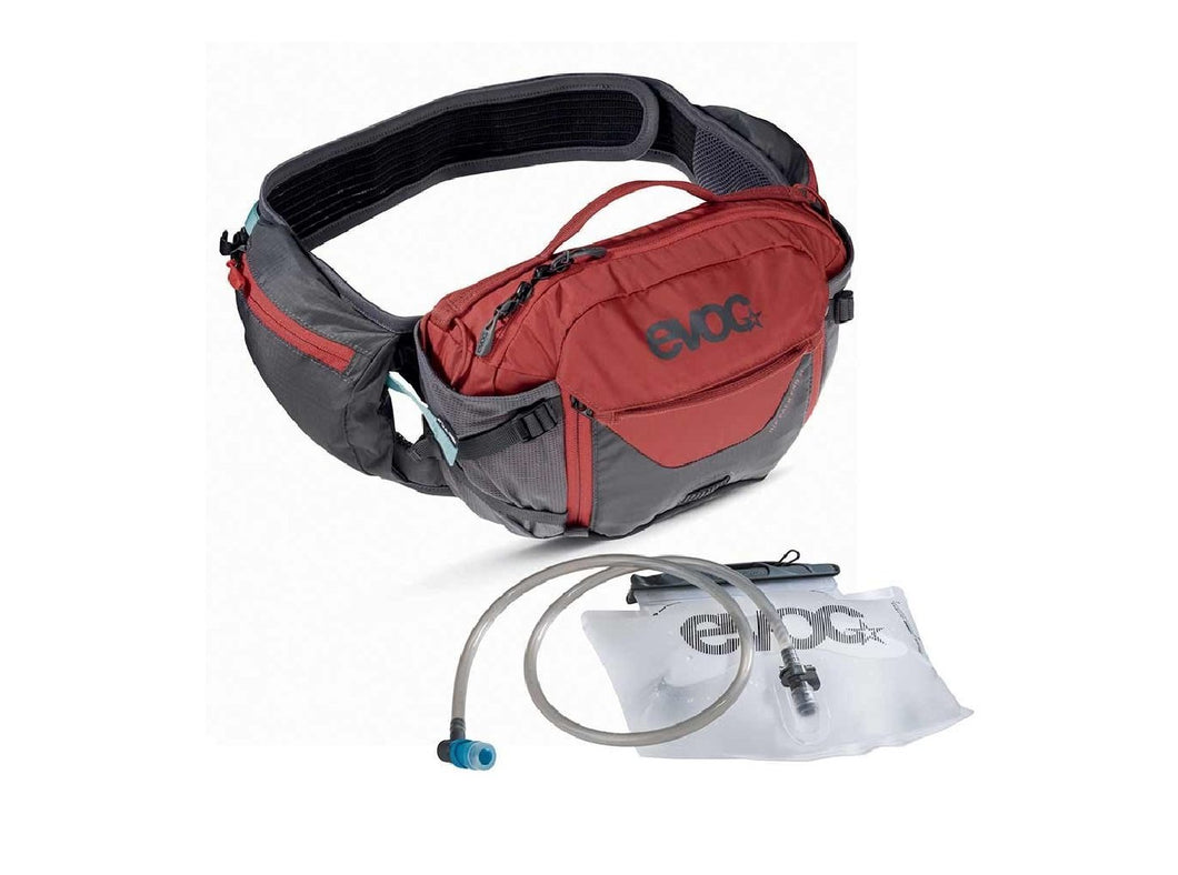 EVOC Hip Pack Pro 3L w/ Bladder - The Lost Co. - EVOC - 102504126 - 4250450721505 - Carbon Grey/Chili Red -