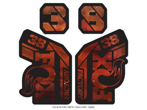 Ground Keeper Fox 38 Factory Decals - The Lost Co. - Ground Keeper Fenders - SQ1325134 - 723803858356 - Space Cadet Amber -