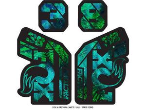 Ground Keeper Fox 38 Factory Decals - The Lost Co. - Ground Keeper Fenders - SQ2717170 - 723803858349 - Space Ferns -