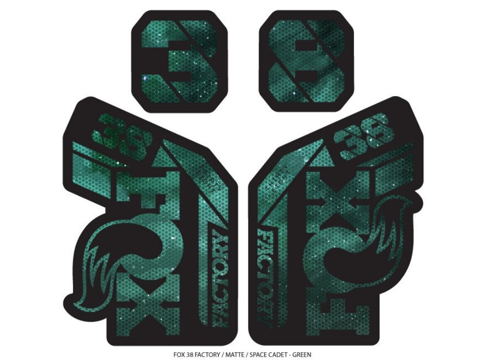 Ground Keeper Fox 38 Factory Decals - The Lost Co. - Ground Keeper Fenders - SQ4121121 - 723803858370 - Space Cadet Green -