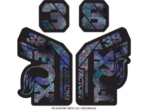Ground Keeper Fox 38 Factory Decals - The Lost Co. - Ground Keeper Fenders - SQ8422168 - 723803858332 - Aztechno Blue -
