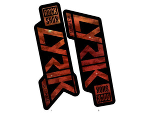 Ground Keeper RockShox Lyrik Decals - The Lost Co. - Ground Keeper Fenders - SQ4811135 - 723803858448 - Space Cadet Amber -