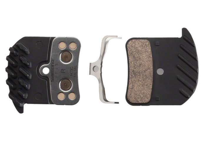Shimano H03C Brake Pads for Newer Saint & Zee (Metallic w/ Fins) - The Lost Co. - Shimano - Y8VT98020 - 689228867604 - Default Title -