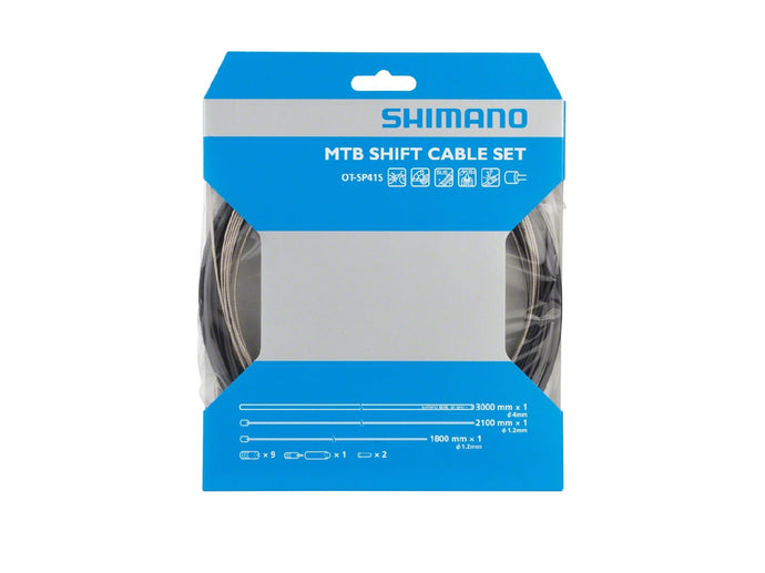 Shimano MTB Stainless Derailleur Cable and Housing Set, Black - The Lost Co. - Shimano - Y60098021 - 689228602885 - Default Title -
