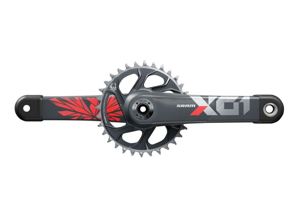 SRAM X01 Eagle Boost Carbon Crankset - 32t - The Lost Co. - SRAM - 00.6118.603.000 - 710845853227 - Lunar/Oxy Red - 175