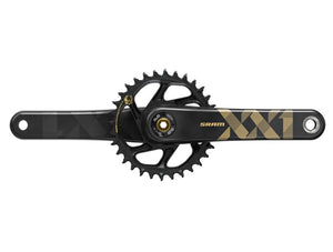 SRAM XX1 Eagle DUB SL Crankset - The Lost Co. - SRAM - 00.6118.526.001 - 710845813566 - 170mm - Black/Gold