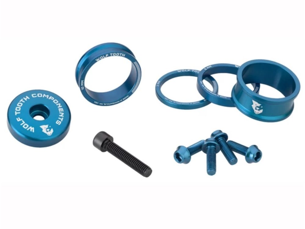 Wolf Tooth Anodized Bling Kit - The Lost Co. - Wolf Tooth Components - BLINGKIT_BLUE - 812719025089 - Blue -