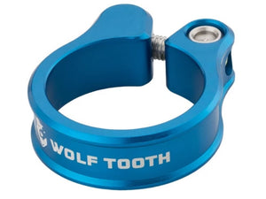 Wolf Tooth Components Seatpost Clamp - The Lost Co. - Wolf Tooth Components - SC-35-BLU - 810006800180 - Blue - 34.9mm