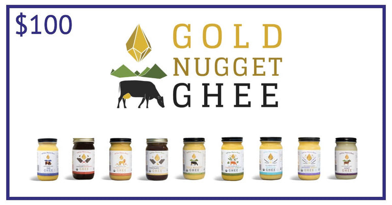 Gold Nugget Ghee $100 Gift Card - Shop Ritzfit