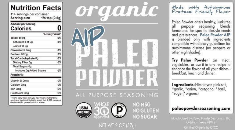 Organic Paleo Powder Spices (3-pack)