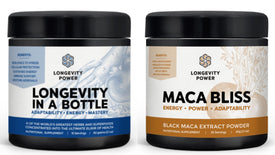 Longevity in a Bottle + Maca Bliss